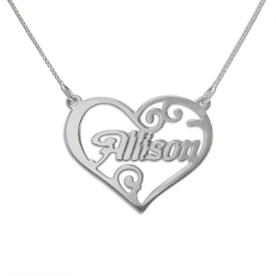 Personalized Heart Name Necklace - Handmade By AOL Special