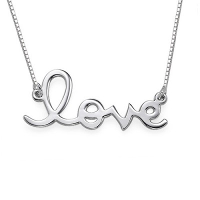 Love Necklace in Sterling Silver - Handmade By AOL Special