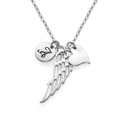Sterling Silver Angel Wing Necklace - Handmade By AOL Special