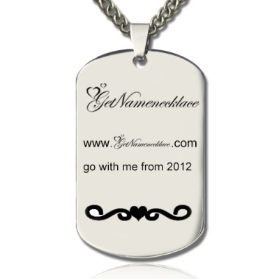 Logo and Brand Design Dog Tag Necklace - Handmade By AOL Special