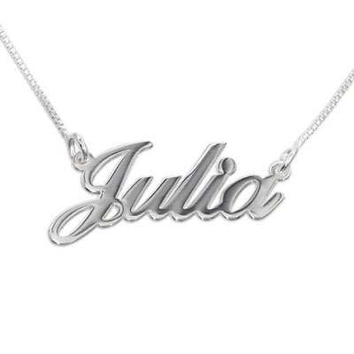 Small Personalized Classic Name Necklace In Silver/Gold/Rose Gold - Handmade By AOL Special
