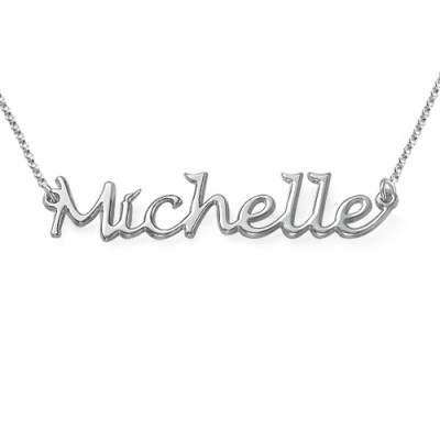 Silver Handwritten Name Necklace - Handmade By AOL Special