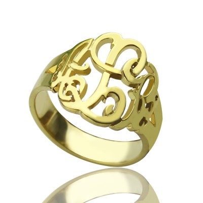 Personalized Hand Drawing Monogrammed Ring Gifts - Handmade By AOL Special