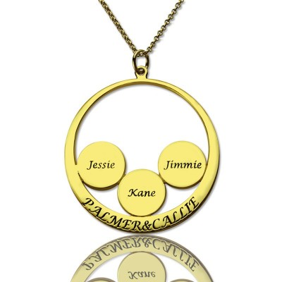 Mothers Family Name Pendant In Gold - Handmade By AOL Special