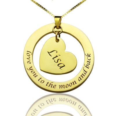 Personalized Promise Necklace with Name Phrase 18ct Gold Plated - Handmade By AOL Special