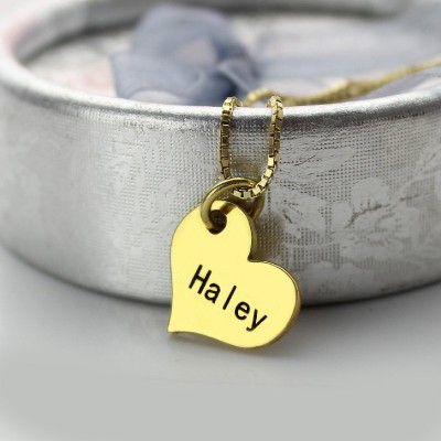 Matching Heart Couples Name Dog Tag Necklaces - Handmade By AOL Special