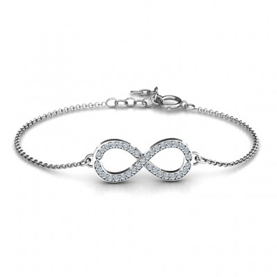 Personalized Accented Infinity Bracelet - Handmade By AOL Special