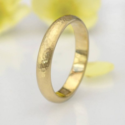 Hammered Ring In 18ct Yellow Or Rose Gold - Handmade By AOL Special