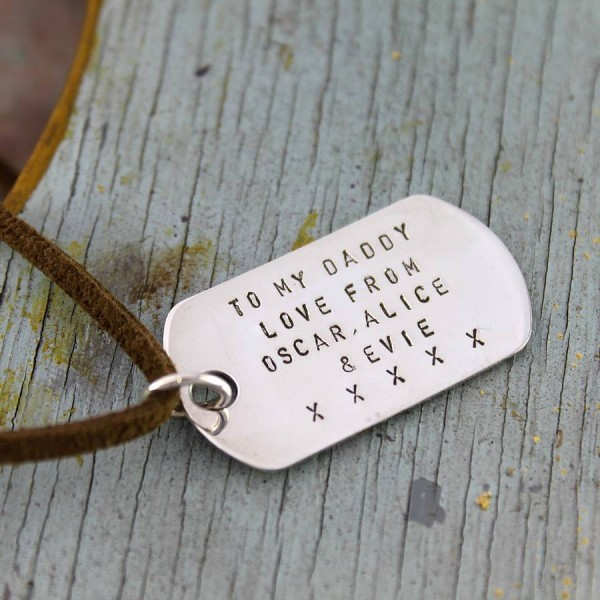 Personalized Dog Tag Necklace - Handmade By AOL Special