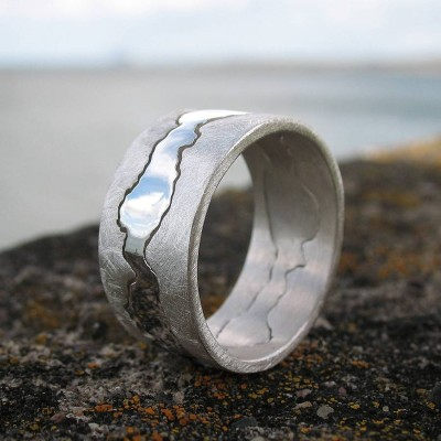 Personalized Double Coastline Ring - Handmade By AOL Special