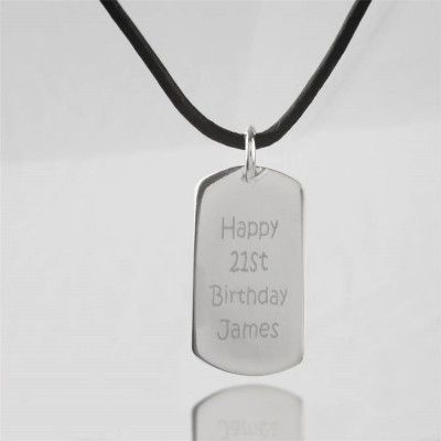 Personalized Message Dog Tag Necklace - Handmade By AOL Special
