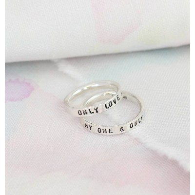 Personalized Script Ring For Couples - Handmade By AOL Special