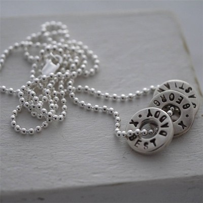 Personalized Silver Washer Necklace - Handmade By AOL Special