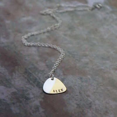 Personalized Plectrum Necklace - Handmade By AOL Special