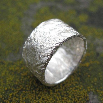 Sterling Silver Rocky Outcrop Broad Ring - Handmade By AOL Special