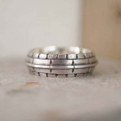 Roof Silver Ring - Handmade By AOL Special