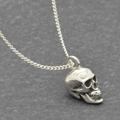 Silver Skull Pendant - Handmade By AOL Special