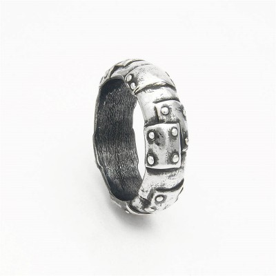 Steampunk Sterling Silver Wedding Band - Handmade By AOL Special