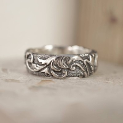 Victorian Scroll Ring - Handmade By AOL Special