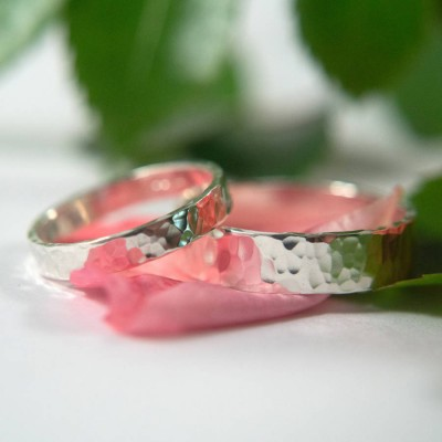 Wedding Bands In Sterling Silver - Handmade By AOL Special